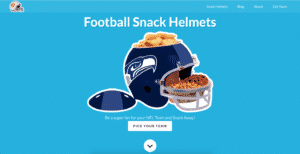football snack helmets