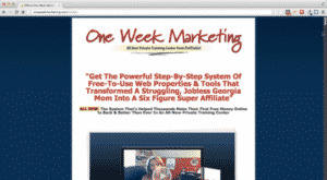 one week marketing