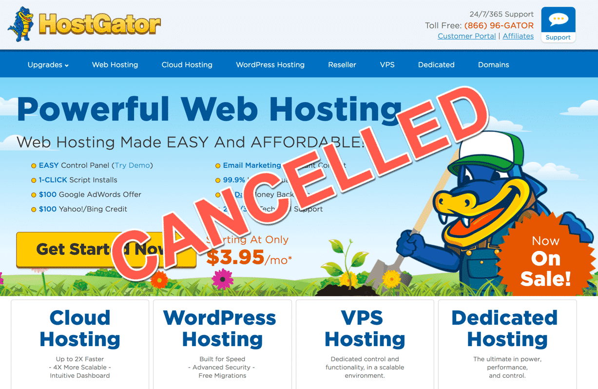 How to Cancel a Hostgator Package