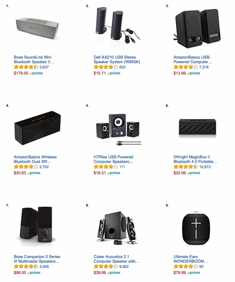 Top Selling Computer Speakers on Amazon