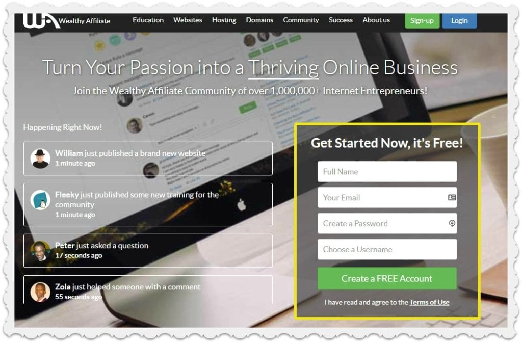 free trial offers from Wealthy Affiliate