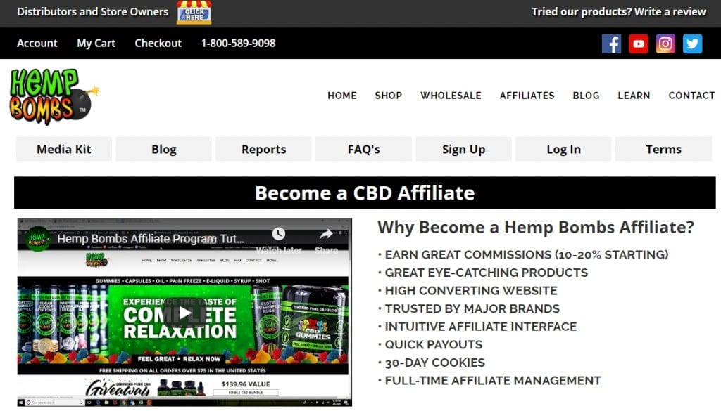 hemp bombs affiliate program