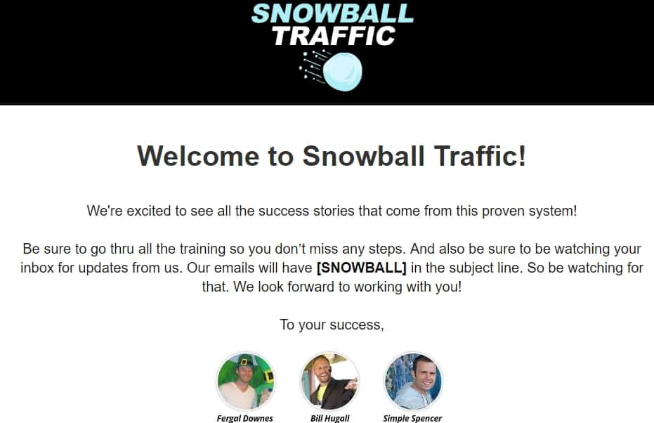 snowball traffic review welcome banner