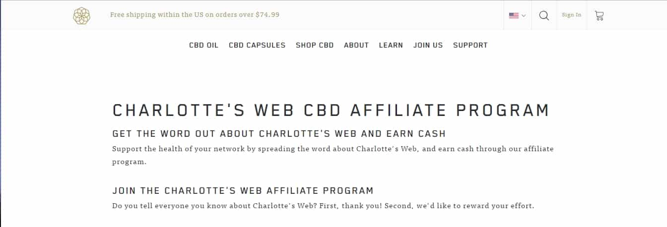 7 Profitable CBD Oil Affiliate Programs: Charlotte's Web