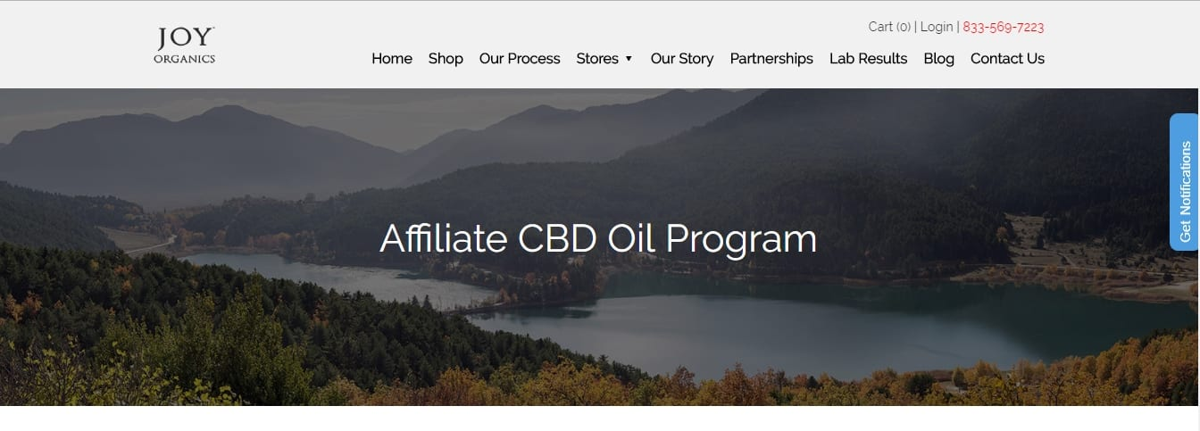 7 Profitable CBD Oil Affiliate Programs: Joy Organics