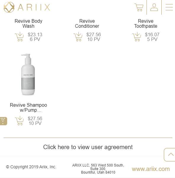 ariix mlm review - products
