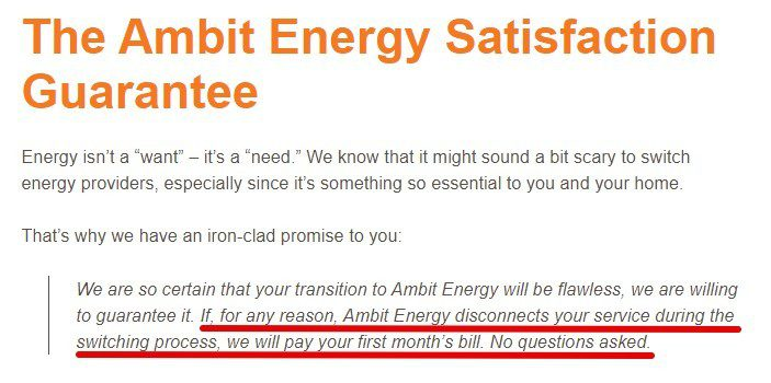 Ambit Energy MLM Review-Guarantee