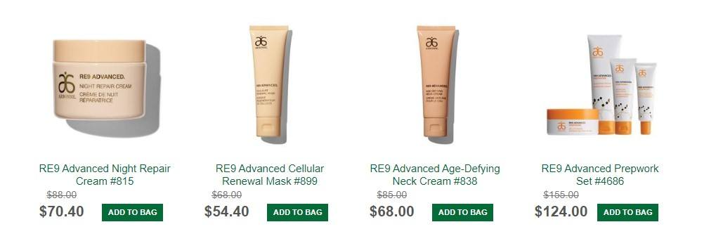 Arbonne MLM Review - Products