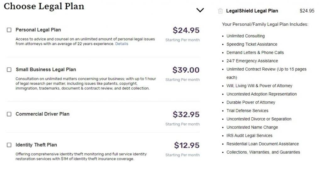 LegalShield MLM Review - Legal Plans