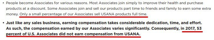 Usana MLM Review - 2017 Stats