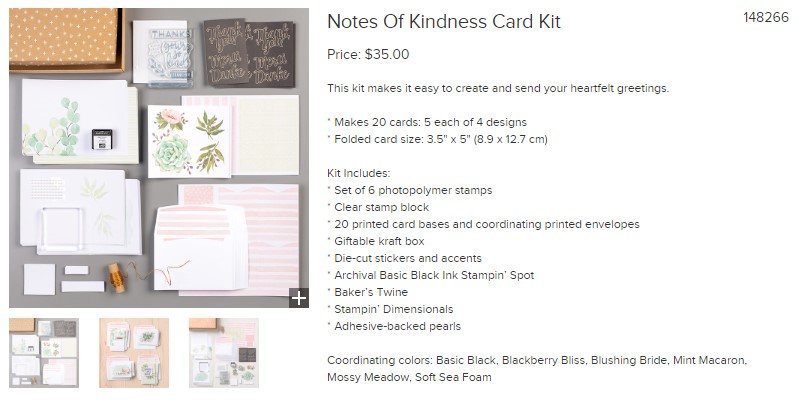 Stampin Up MLM Review - Product Kit
