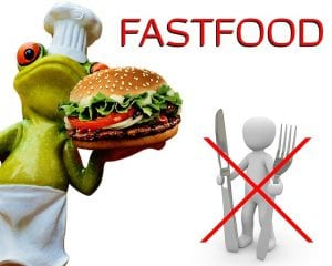 Fast food sign