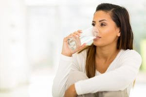 Drinking water to feel full