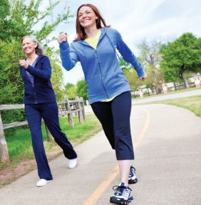 Walking for exercise