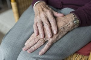 Wrinkled Hands from Aging