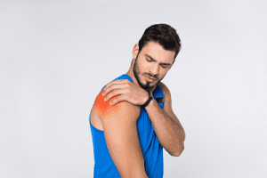 Man with Inflammation on the Shoulder