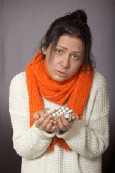 Woman With a Cold and the Flu