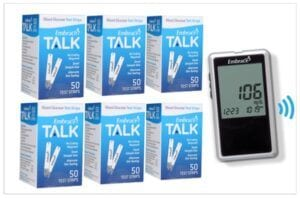 Embrace Test Strips with Free Glucose Monitor