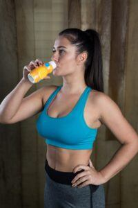 Woman Drinking Gatorade