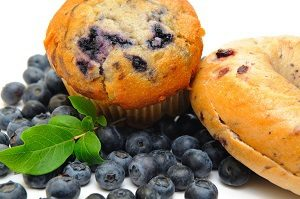 Diabetes Meal Plan - Bagel with Blueberries