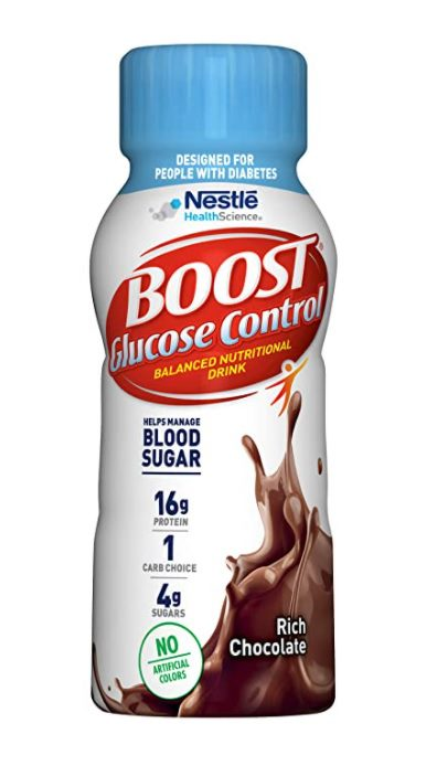 Boost Glucose Control Nutritional Drink, Rich Chocolate, 8 Fl Oz (Pack of 24)
