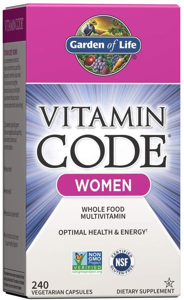 Garden of Life Multivitamins for Women, Vitamin Code Women's Multi - 240 Capsules