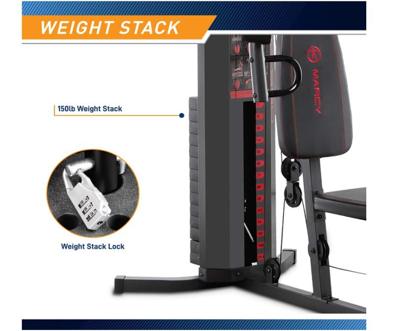 Marcy 150-lb Multifunctional Home Gym Station Weight Stack