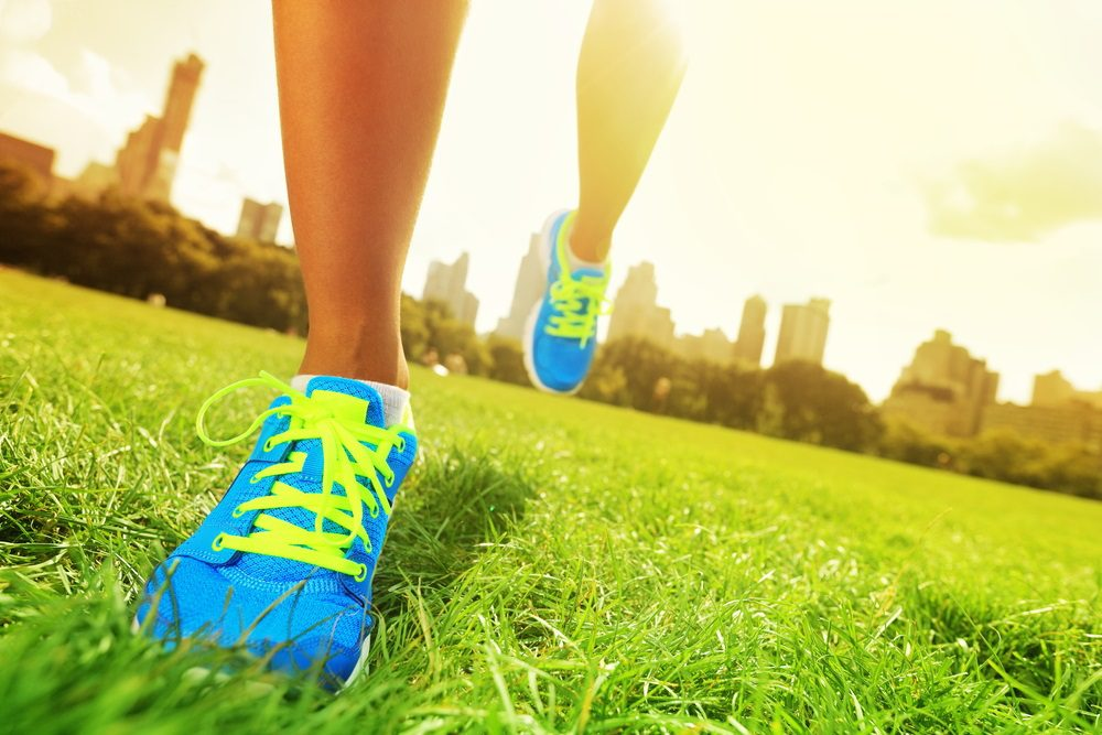 Running Shoes in the Grass
