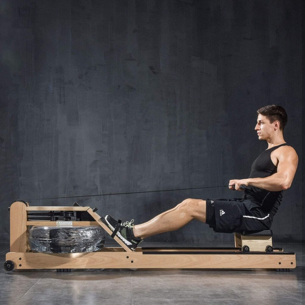Best Rowing Machine - BATTIFE Real Solid Wood Rowing Machine with Phone Holder