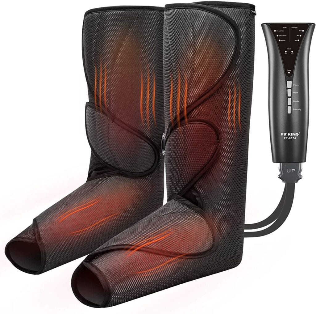 FIT KING Upgraded Leg & Foot Massager with Heat, Foot and Calf Massager for Circulation and Pain Relief