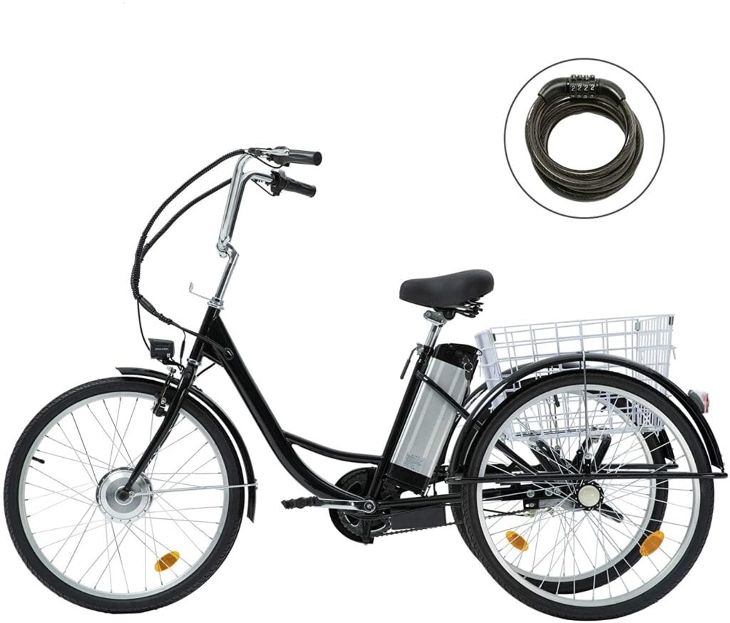 Best Electric Bicycles - Viribus 3 Wheel Electric Bike for Adults with 250w Motor