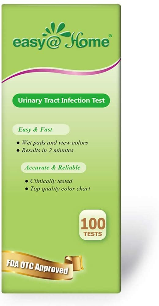 Easy@Home 100 Tests (25 Ct 4 Bottles) Urinary Tract Infection UTI Test Strips