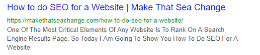 How to do SEO for a Website - SERP results