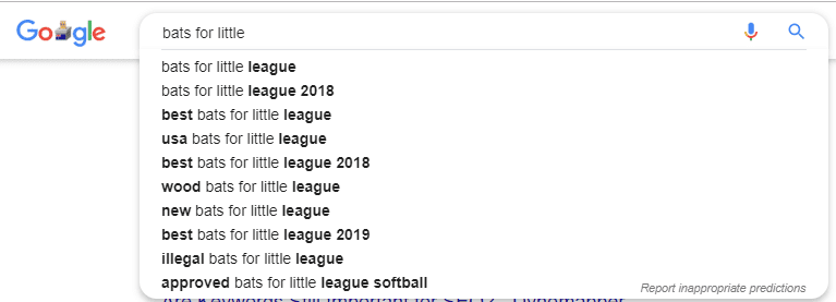 How to do SEO for a Website - little league