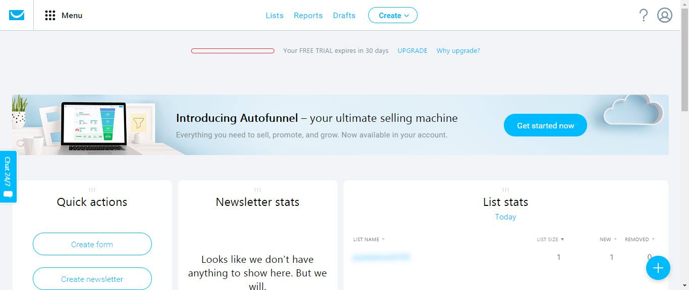 The 5 Best Email Autoresponders for Your Website -Getresponse page