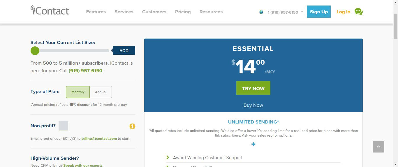 The 5 Best Email Autoresponders for Your Website - icontact pricing