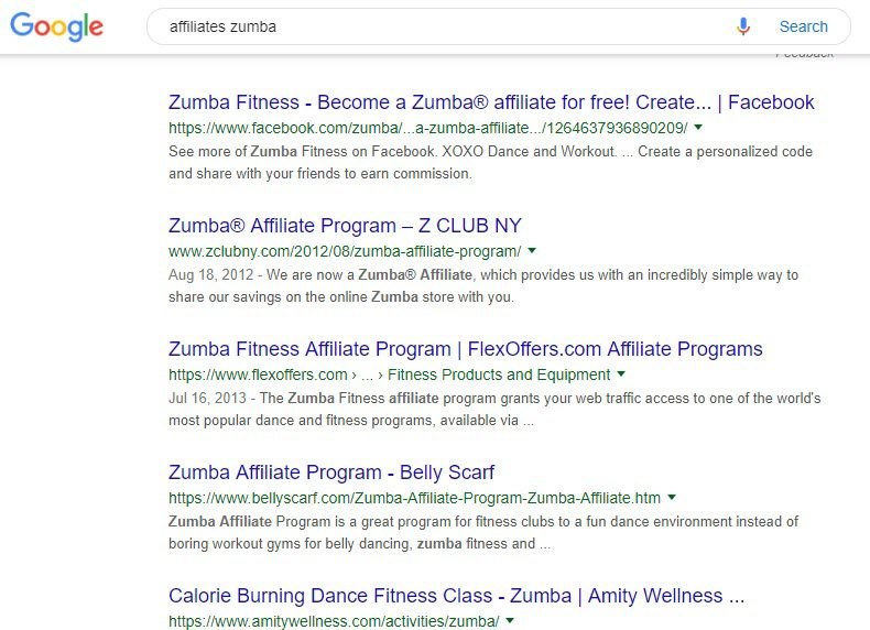 Best Fitness Affiliate Programs 2019 - zumba affiliate