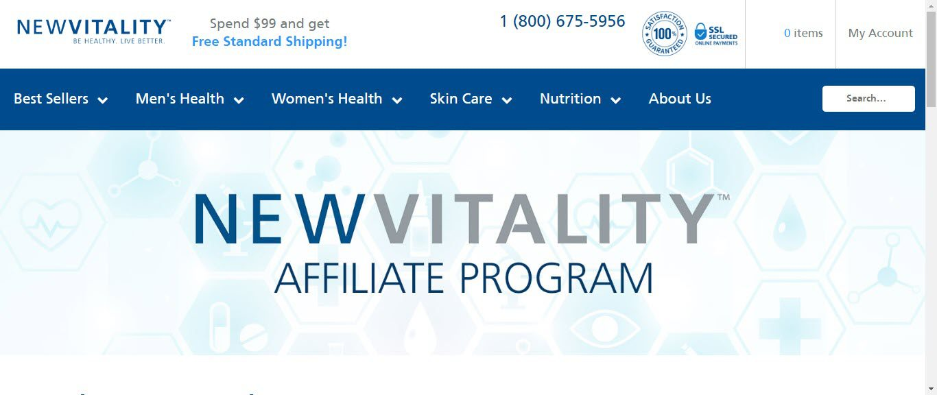 Best Supplement Affiliate Programs - newvitality affiliate