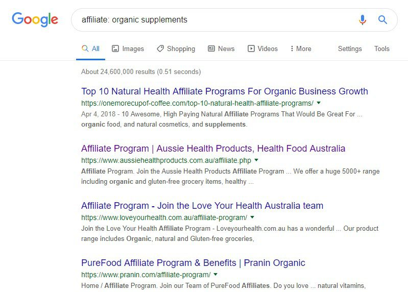 Best Supplement Affiliate Programs - organic supps
