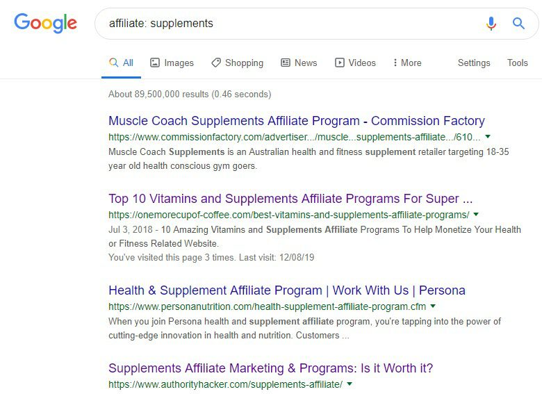 Best Supplement Affiliate Programs - supplements