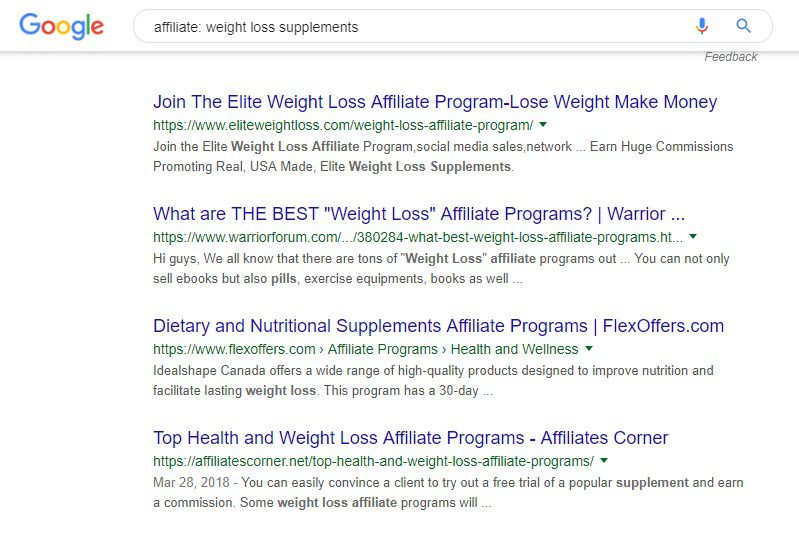 Best Supplement Affiliate Programs - weightloss supps