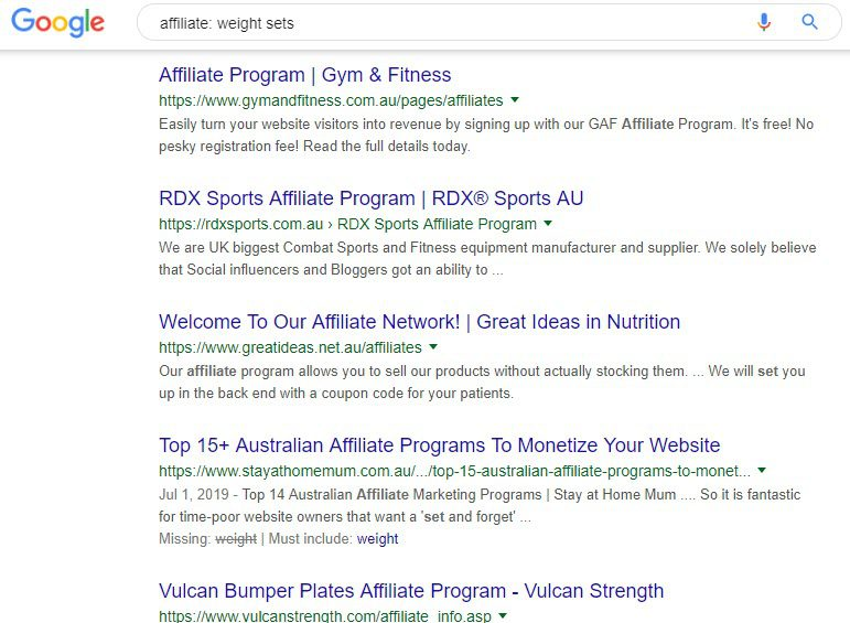 How to Sell Fitness Workouts Online - affiliate weights