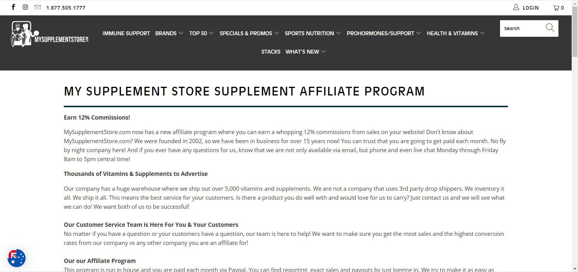 supplement affiliate programs - mysupplementstore affiliate