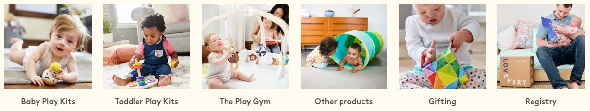 Baby Product Affiliate Programs - lovevery stripe