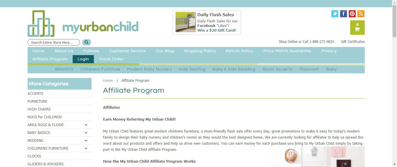 Baby Product Affiliate Programs - my urban child affiliate