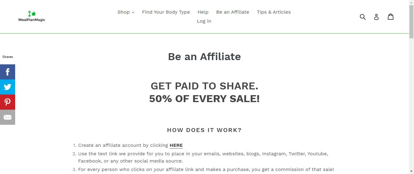 Weight loss affiliate programs - Meal Plan Magic affiliate