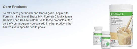 is herbalife MLM - core products