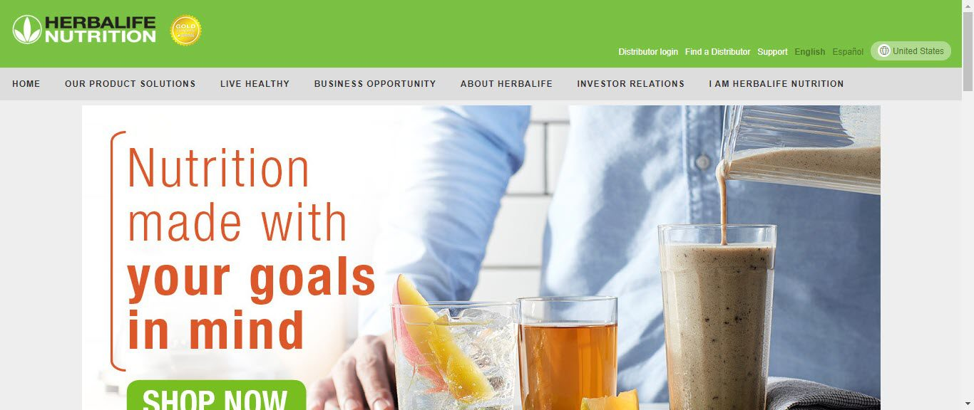 is herbalife MLM - home page