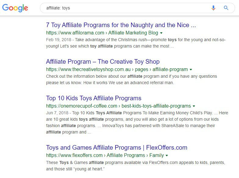 make money selling toys online - affiliates