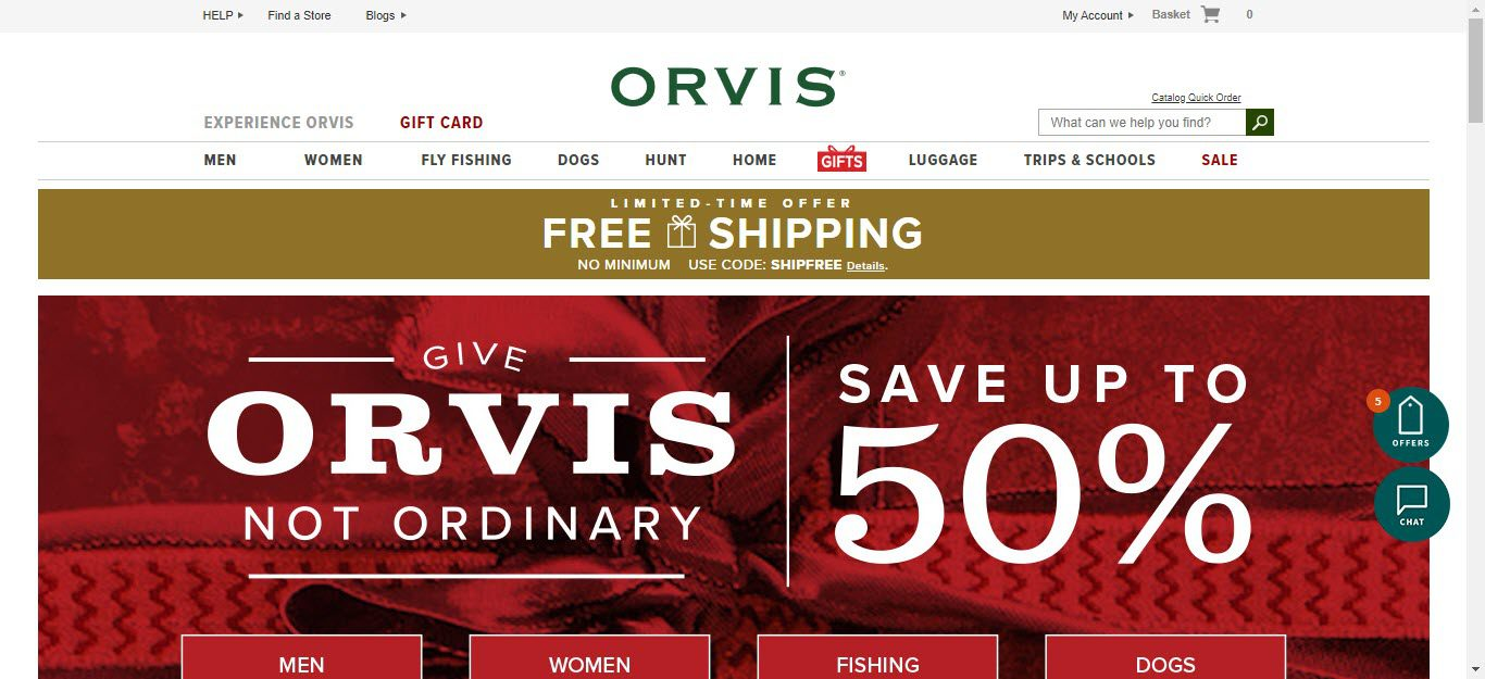 Travel Accessories Affiliate Programs - orvis